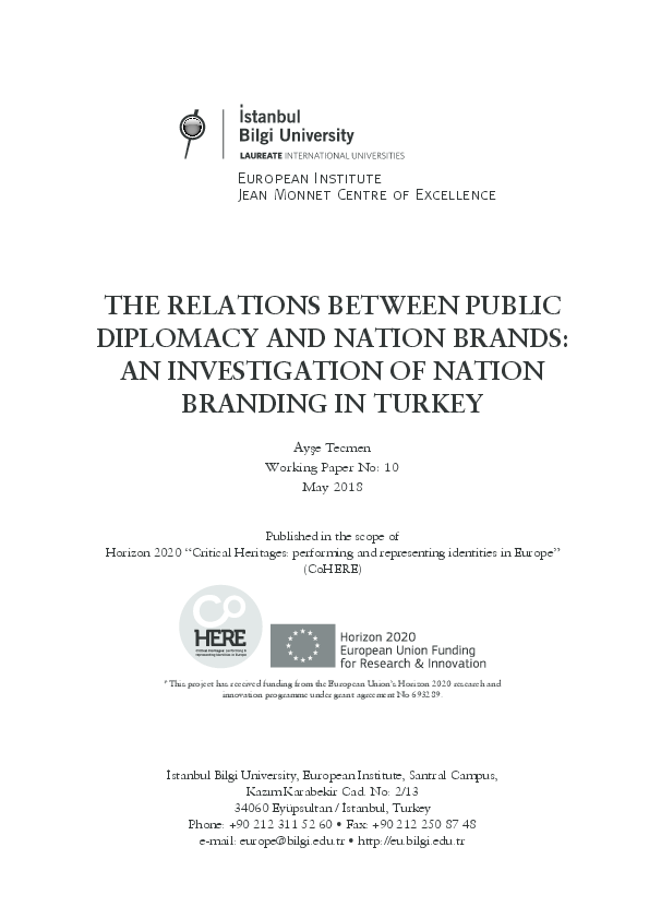 PDF) Working Paper 10 - THE RELATIONS BETWEEN PUBLIC DIPLOMACY AND