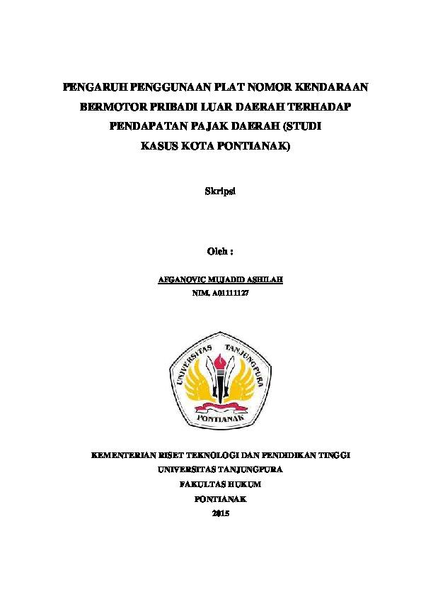 Skripsi Pajak Daerah Pdf Pejuang Skripsi