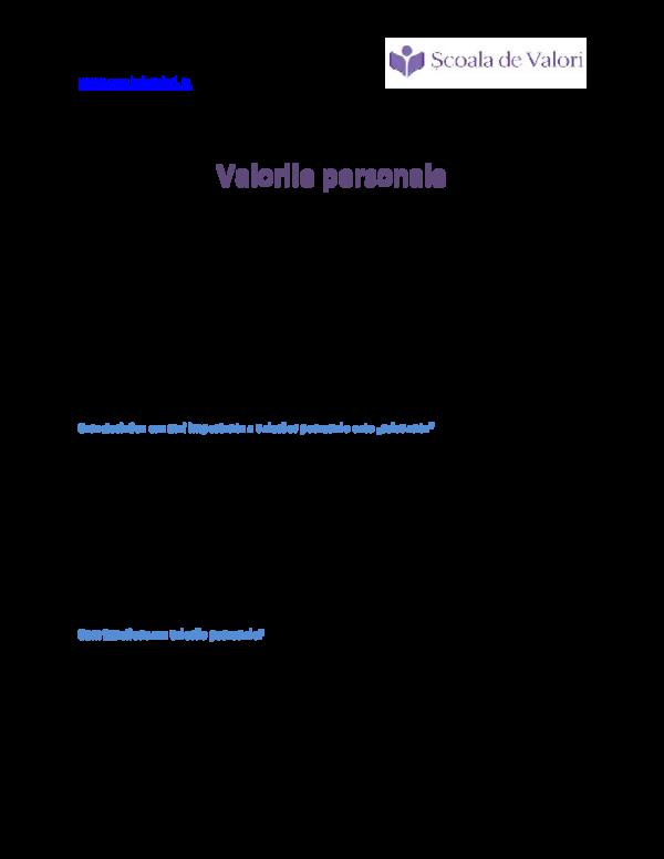 Atitudini si valori exemple