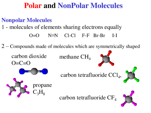 Ppt Polar And Nonpolar Molecules Norhan Elokaby Academia Edu