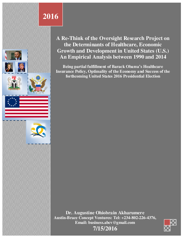 PDF) A Re- the Determinants of Healthcare, Growth and