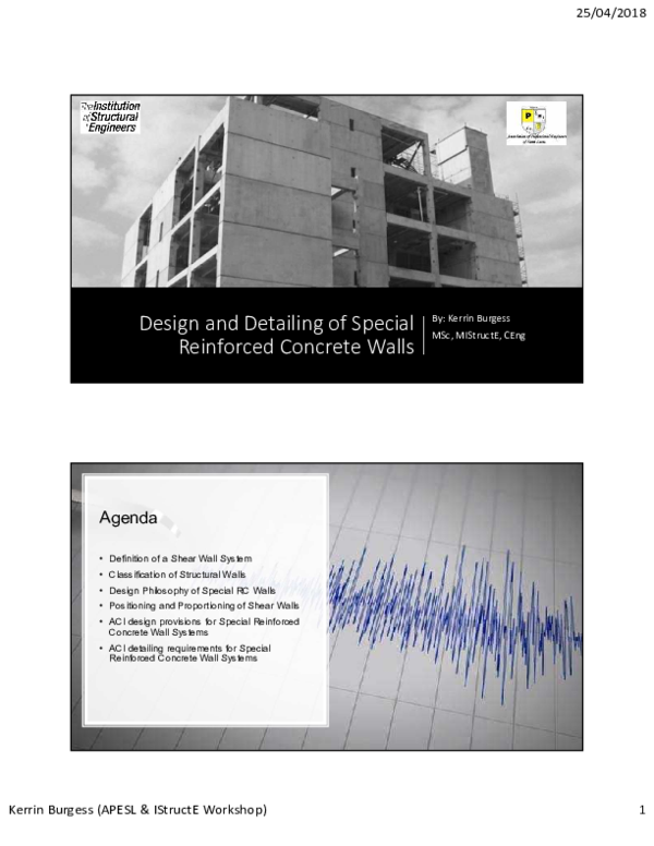 Pdf Lecture 6 Design And Detailing Of Special Shear Walls Kerrin Burgess Academia Edu
