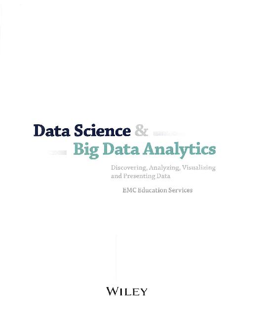 PDF) Data Science&Big Data Analytics | Vijaya Lakshmi