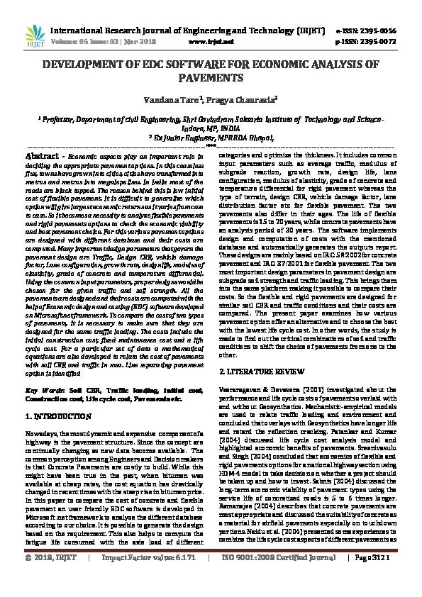 PDF) DEVELOPMENT OF EDC SOFTWARE FOR ECONOMIC ANALYSIS OF