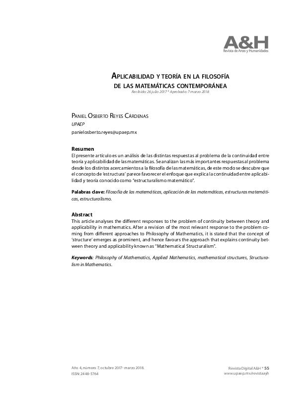 Pdf Aplicabilidad Y Teoria En La Filosofía De Las
