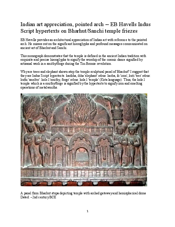 PDF) Indian art appreciation, pointed arch -- EB Havells