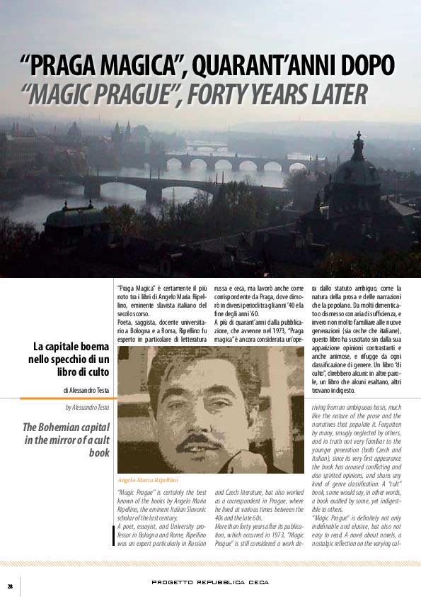 Pdf Praga Magica Magic Prague Alessandro Testa