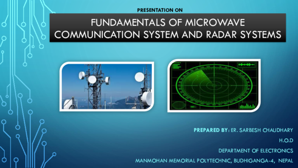 Fundamentals Of Microwave Communication