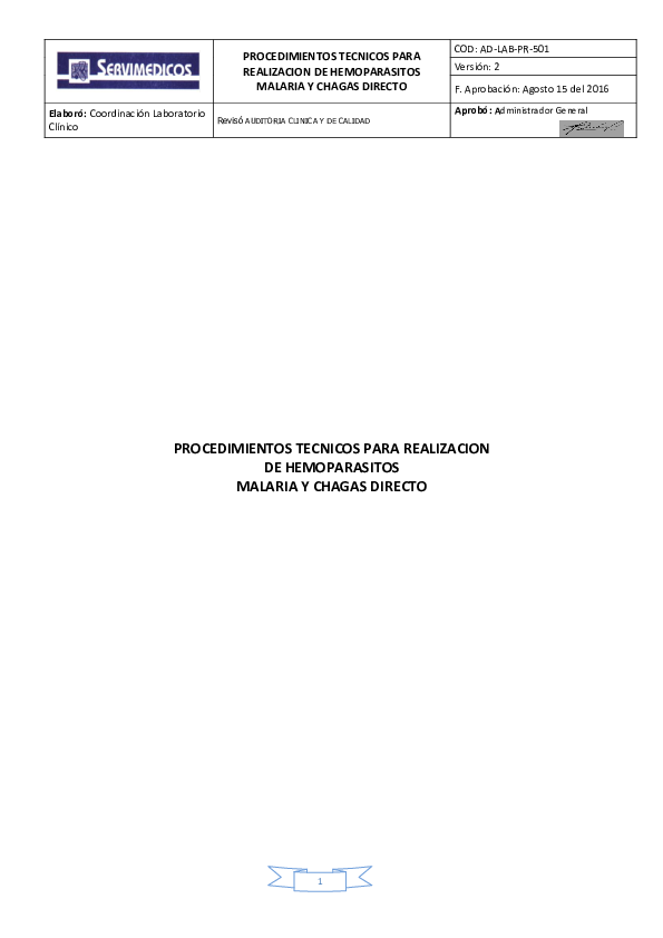 trypanosoma cruzi gota gruesa