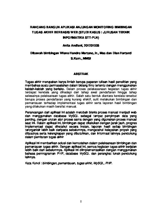 Skripsi Teknik Informatika Research Papers Academia Edu