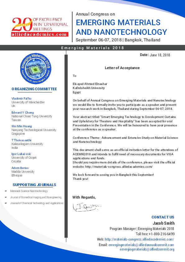PDF) Elsayed Ahmed Elnashar_Letter of Acceptance pdf