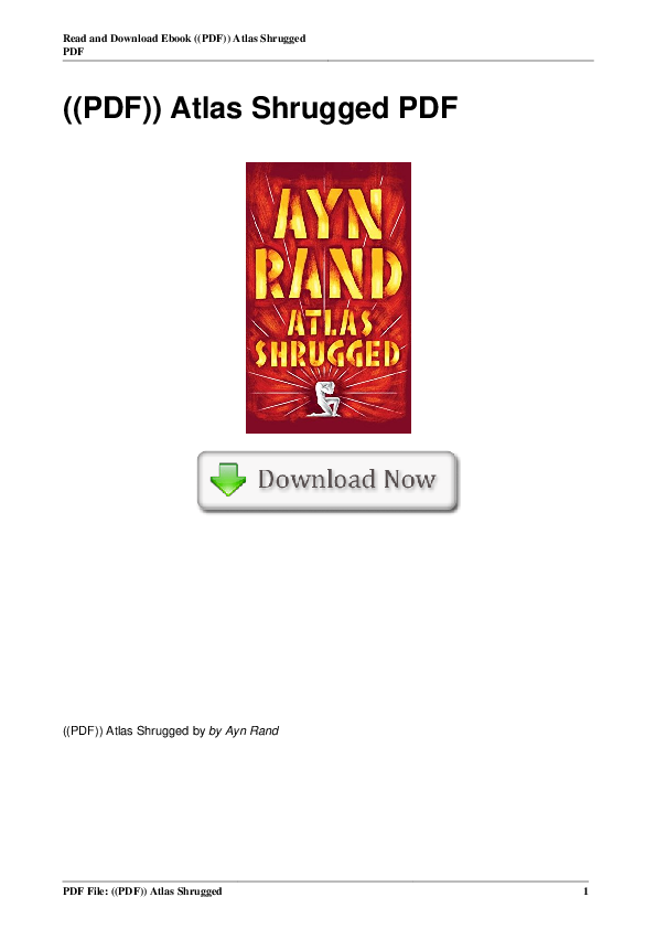 Atlas Shrugged Ebook