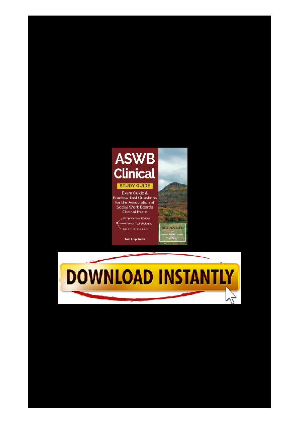 aswb clinical exam practice test pdf