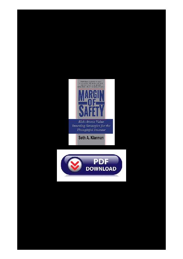 Margin Of Safety Ebook