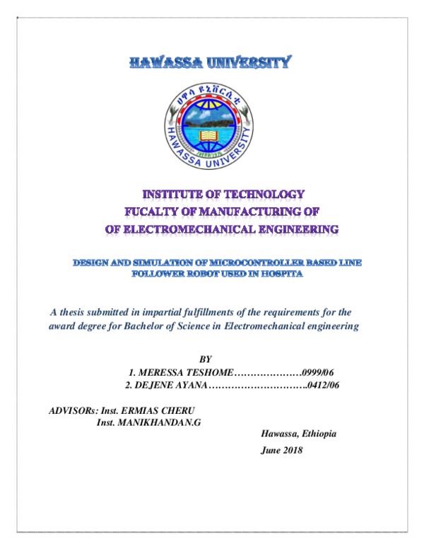 PDF) REPORT FINAL THESIS REPORT UFFFF   Miressa Teshome - Academia edu