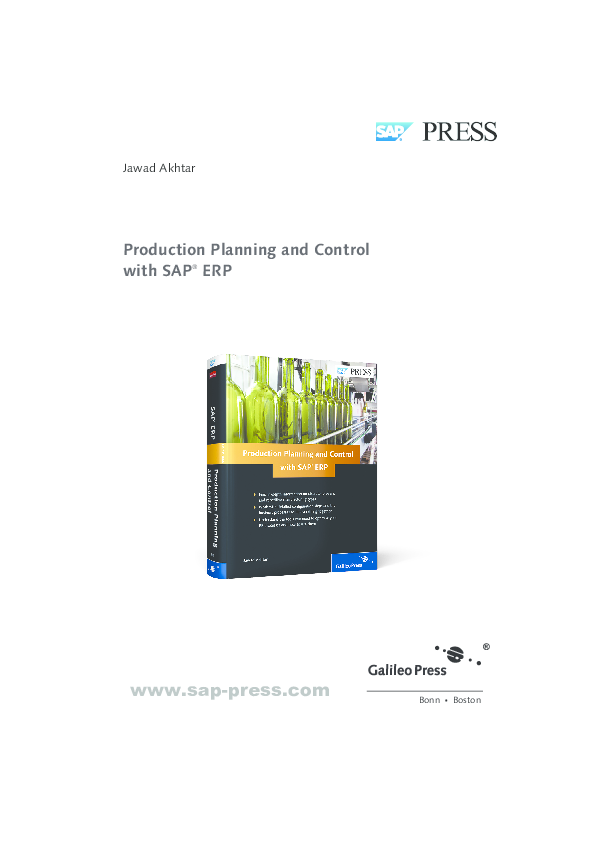 PDF) Production Planning and Control with SAP ® ERP | Thịnh