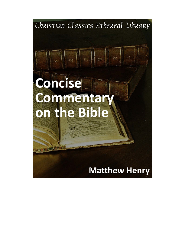 Pdf Matthew Henry Commentary On The Bible Ernst Wendland