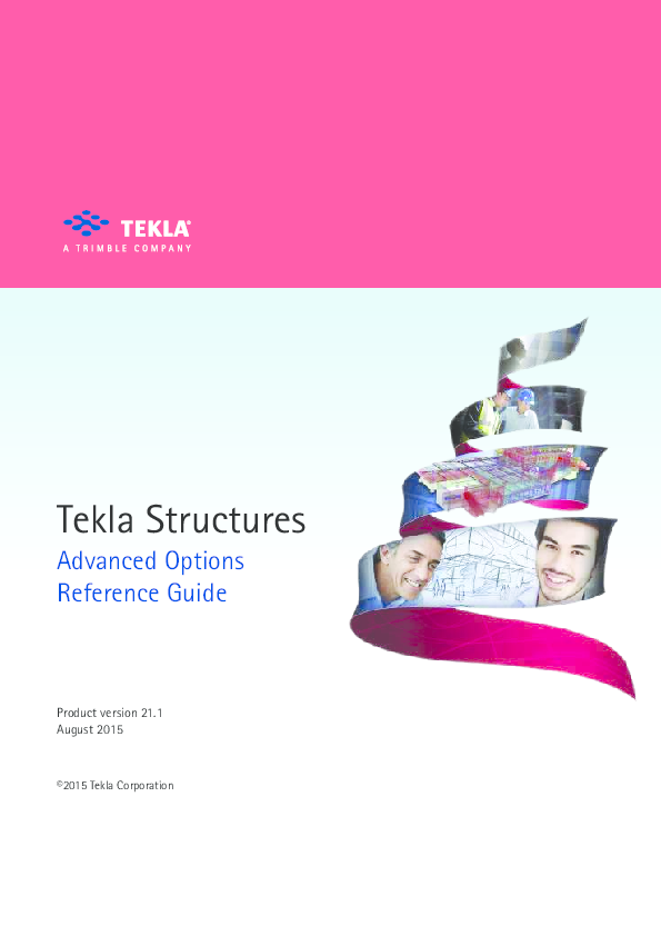 PDF) Tekla Structures Advanced Options Reference Guide | reddy vasu