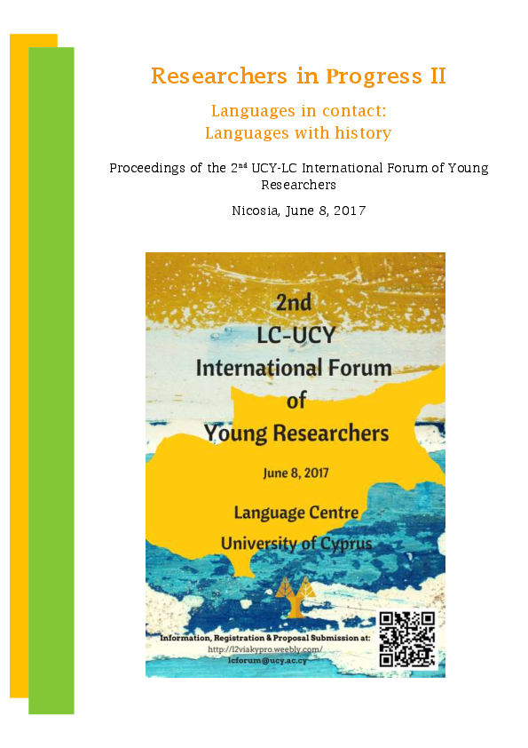 L Insalata Sotto Il Cuscino Pdf.Pdf Researchers In Progress Ii Languages In Contact Languages