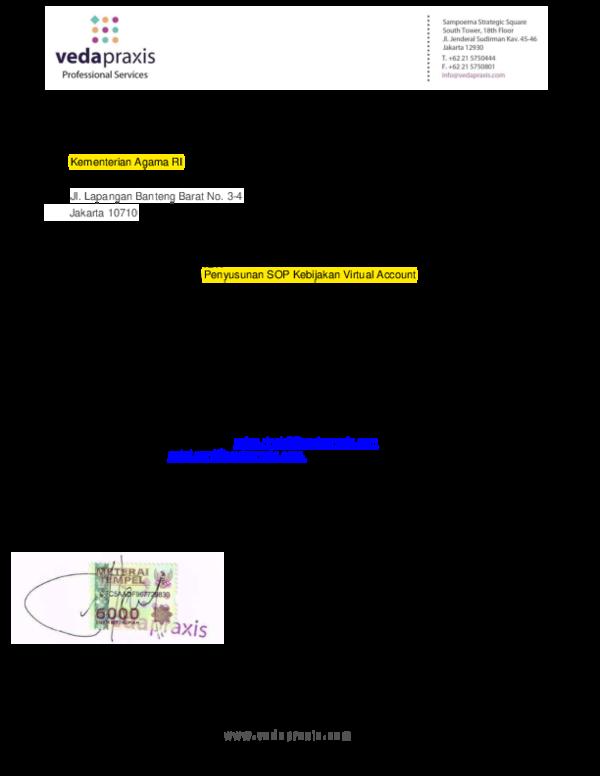 Pdf Contoh Surat Penawaran Harga Bpkh Agam Riyanto