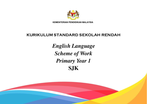 PDF) English Language Scheme of Work Primary Year 1 SJK