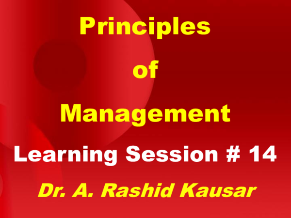 PPT) Principles of Management MGT503 Power Point Slides