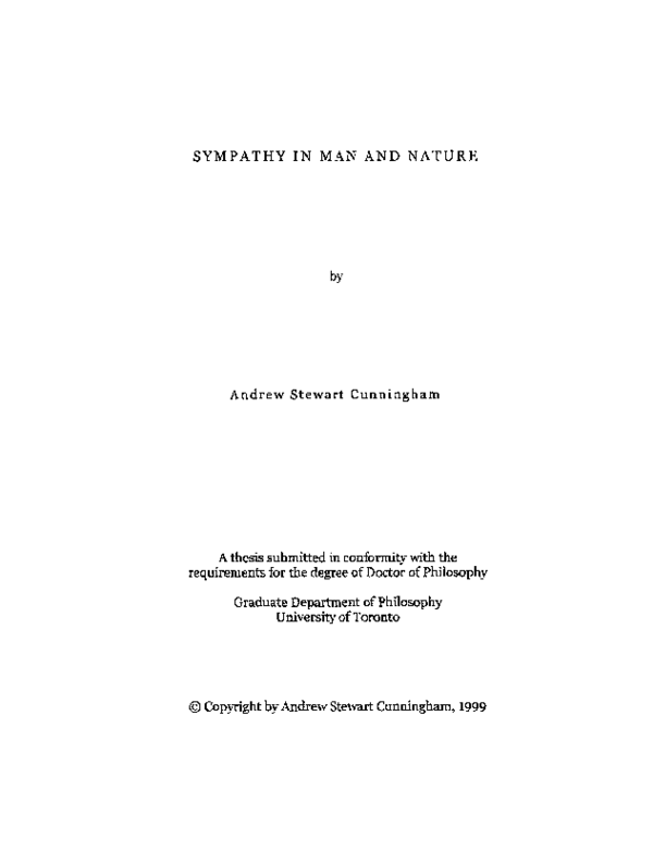 PDF) Sympathy in Man and Nature | Andrew Cunningham