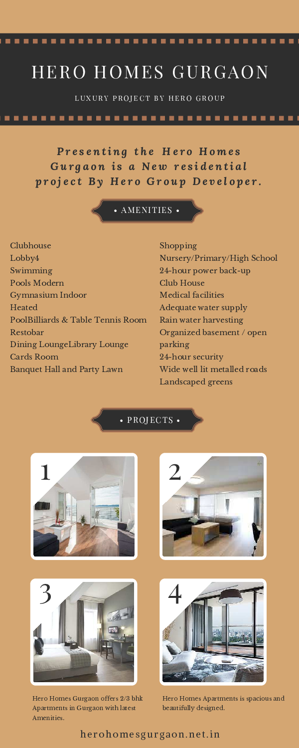 PDF) Hero Homes Provide Luxurious Apartment in Sector 104