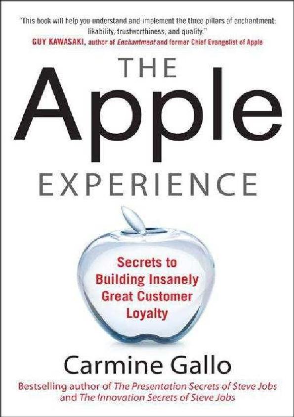 f666e7b620c PDF) The Apple Experience - Carmine Gallo