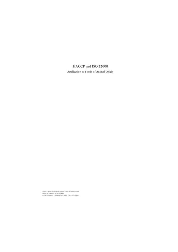 PDF) HACCP and ISO 22000 | Juan Pablo Cuéllar Alcalá