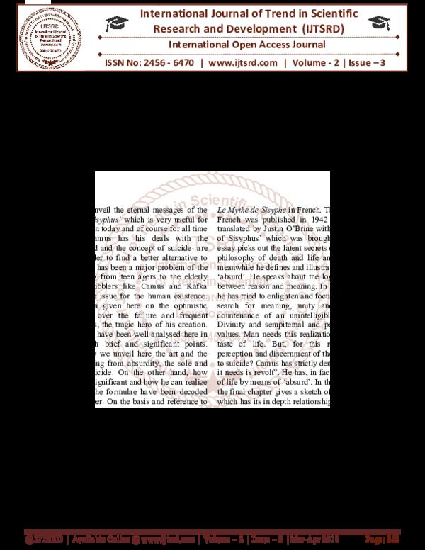 PDF) Pedagogical Suicide, Philosophy of Nihilism, Absurdity