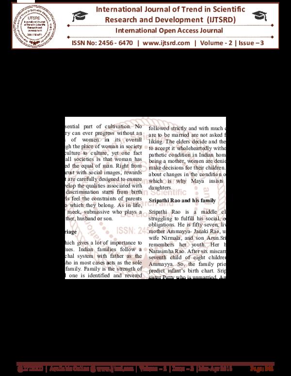 PDF) Defiant Daughter in Anita Rau Badami's