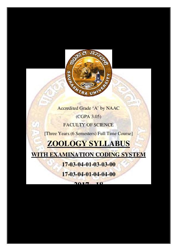 PDF) RAJKOT ZOOLOGY SYLLABUS WITH EXAMINATION CODING SYSTEM