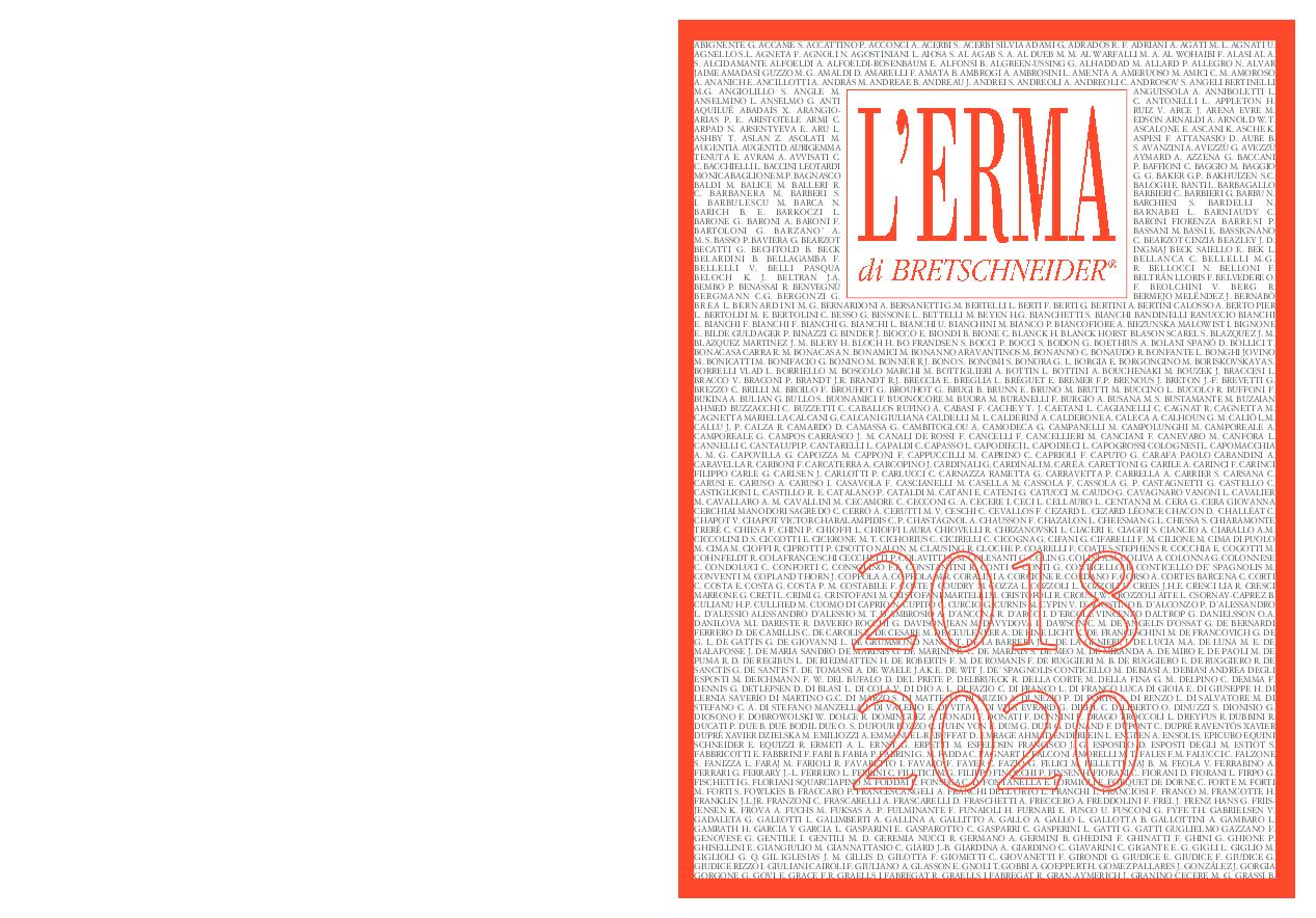 Calendario Cronologico Polito 2020.Pdf L Erma Di Bretschneider General Catalogue 2018 2020