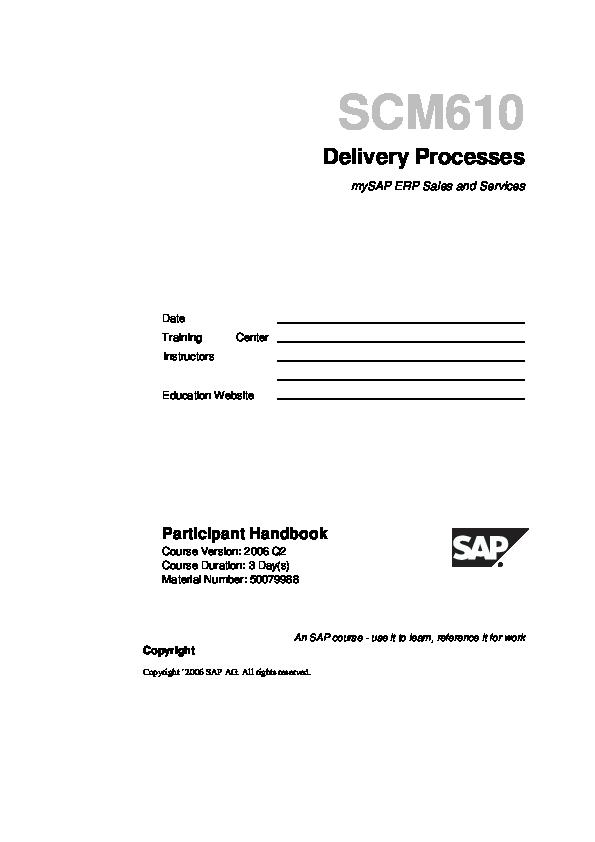 DOC) SCM610 - Delivery Processes | Adrian Fernandez - Academia edu