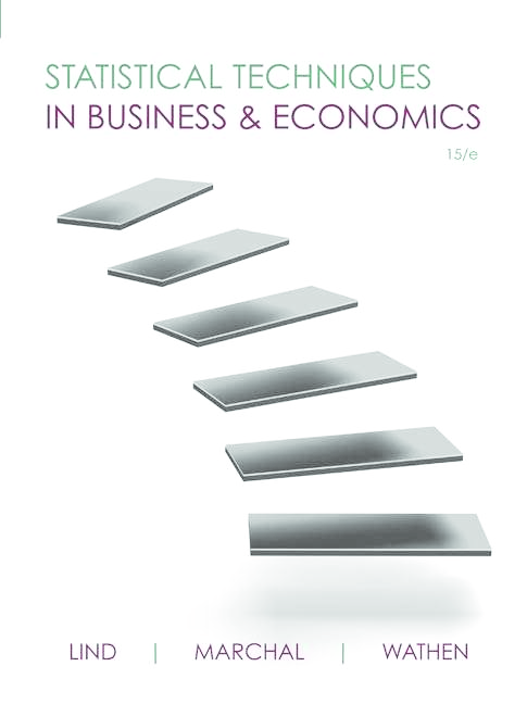 3825ed0e21d PDF) Statistical Techniques in Business and Economics by Lind ...