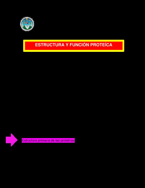 Pdf Estructura Y Funcion Proteica Irasema Herrera