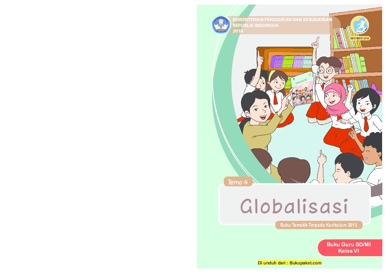 Pdf Buku Guru Kelas 6 Tema 4 Revisi 2018 Paryono Yono
