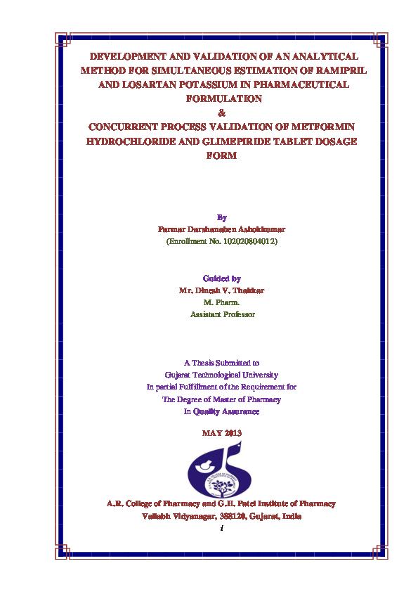 hptlc method development thesis