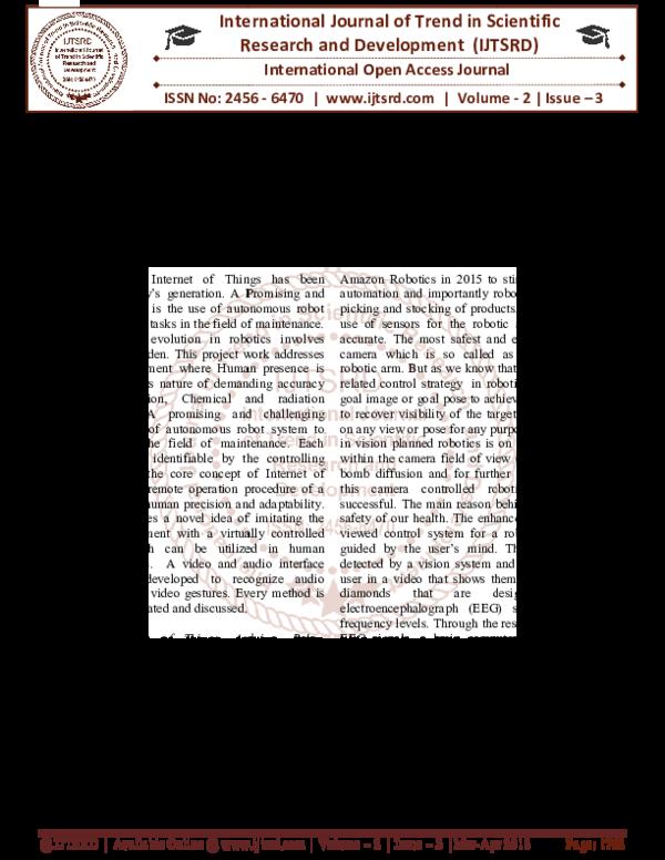 PDF) Arduino Controlled Robotic Arm | International Journal