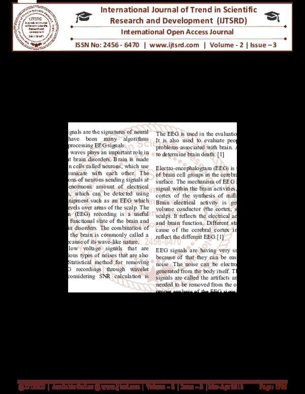 PDF) Review:Wavelet transform based electroencephalogram
