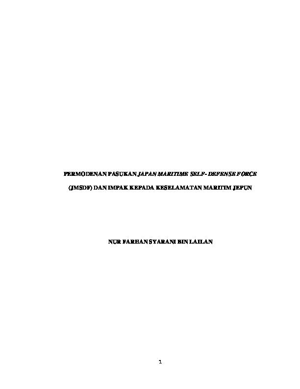 Pdf Permodenan Pasukan Japan Maritime Self Defense Force Jmsdf Dan Impak Kepada Keselamatan Maritim Jepun Noraini Zulkifli Academia Edu