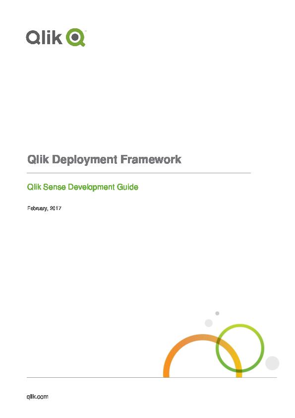 PDF) Qlik Deployment Framework Qlik Sense Development Guide