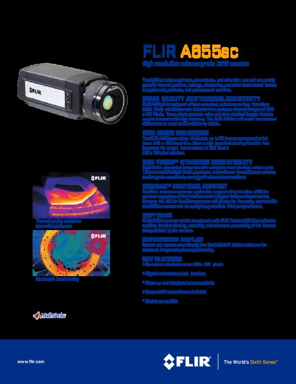 PDF) FLIR A655sc High resolution science grade LWIR camera