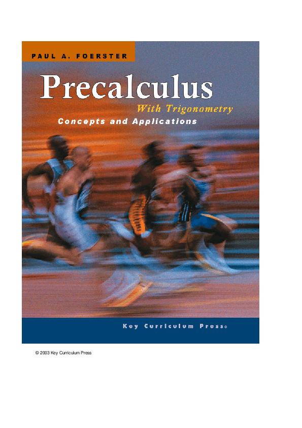 PDF) Paul A Foerster Precalculus with Trigonometry | Syaiful