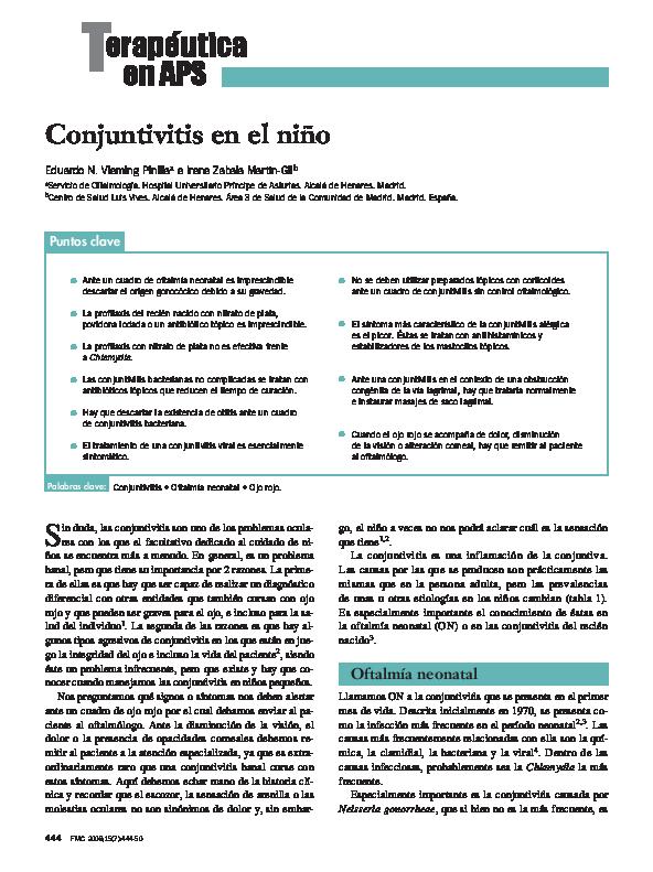 tratamiento conjuntivitis recien nacidos pdf