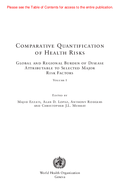 PDF) Comparative Quantification of Health Risks Global and