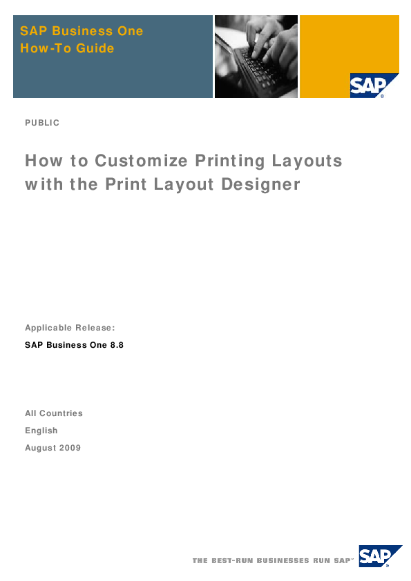 PDF) SAP Business One How-To Guide How to Customize Printing