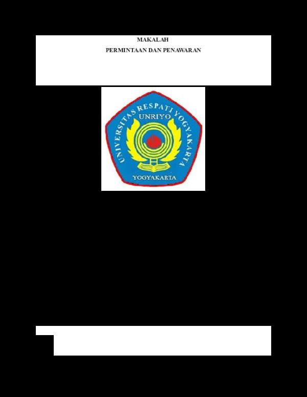 Doc Pengantar Ekonomi Mikri Permintaan Dan Penawaran Docx Faryani Odedai Academia Edu
