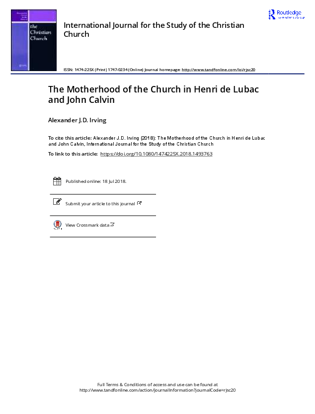 the eucharist makes the church henri de lubac and john zizioulas in dialogue